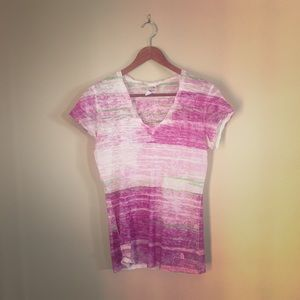 North face sheer multi colored t shirt